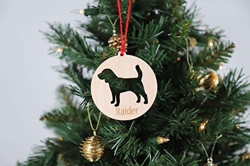 - Personalized Round Dog Cutout Ornament plus Magnet