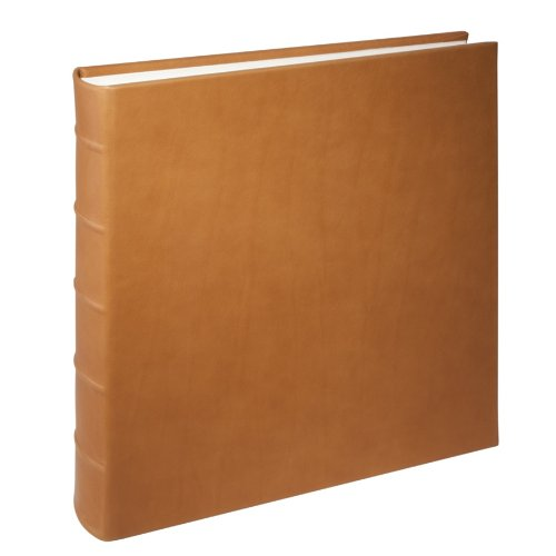 Graphic Image Large Genuine Italian Leather Bound Album,100 Pages, Photo Squares Included, 13-1/8