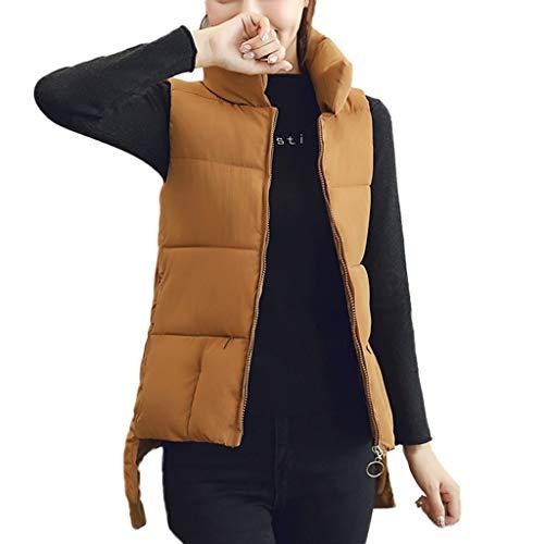 CUCUHAM Women's Sturdy Warm Stand Collar Jacket Slim Zipper Winter Coat Jacket -