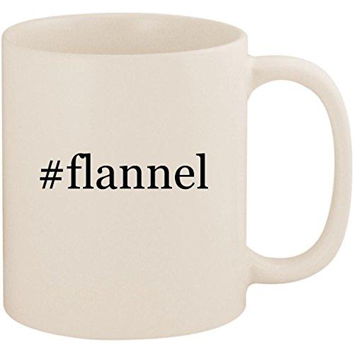 - #flannel - 11oz Ceramic Coffee Mug Cup, White