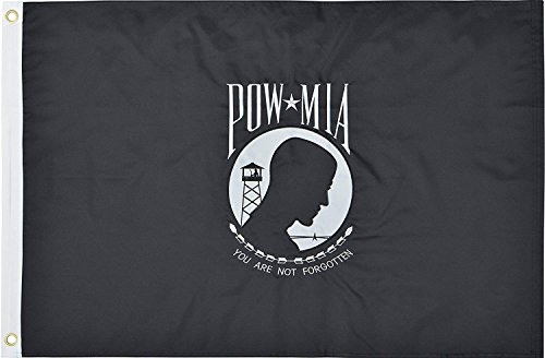 (Green Grove Products POW MIA Flag 2x3 Ft 210D Nylon Premium Outdoor Embroidered Double Sided Flag)