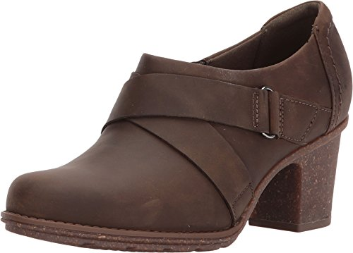 Clarks Women's Sashlin Fiona Fashion Boot, Olive Leather, 9 Medium US