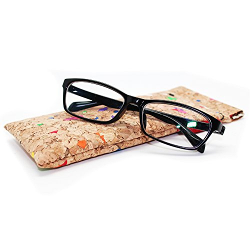 Boshiho Eco-Friendly Cork Glasses Pouch Bag Cosmetic Bag Pencil Case Vegan' s Gift (Color3)