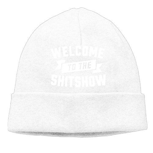 Bienvenido a la shitshow Coleccionable Hipster camiseta de impresión Beanie gorro de esquí Beanie Hat Blanco