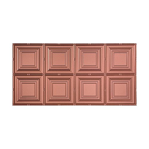 FASÄDE Easy Installation Portrait Argent Copper Glue Up Ceiling Tile/Ceiling Panel (2' x 4' Tile)