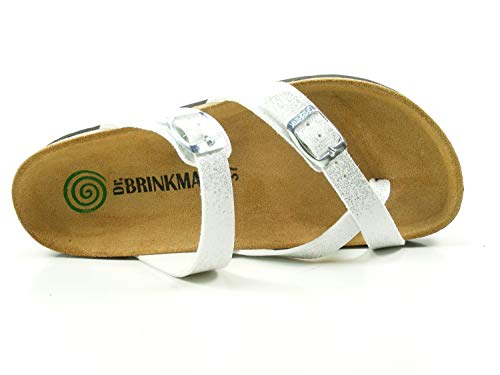 Brinkmann 701179 femme Dr Blanc Mules 0qnd78v5