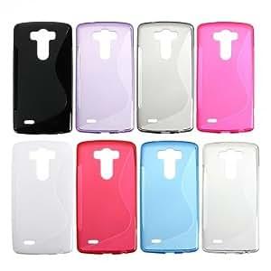 S Line Wave Slim TPU Back Case Cover Skin For LG G3 D850 D855 --- Color:Purple