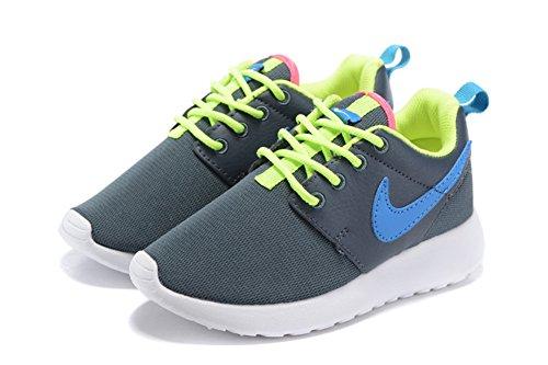 Roshe Run edad Kid Negro Deporte Al Aire Libre Correr Caminar Zapatos, Niños, gris, UK11.5=EUR29.5=19CM