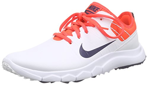 Nike FI Impact 2 Spikeless Golf Shoes 2016 Ladies White/Bright Crimson/Red/Midnight Navy Medium 8 - Golf Shoes Tiger