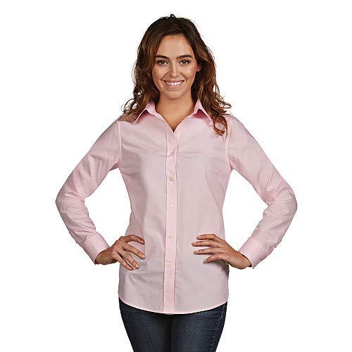 Antigua Women's Dynasty Button Down Long Sleeve Woven Dress Shirt L Oxford -