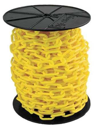 Plastic Chain, 1-1/2In x 200 ft, Yellow