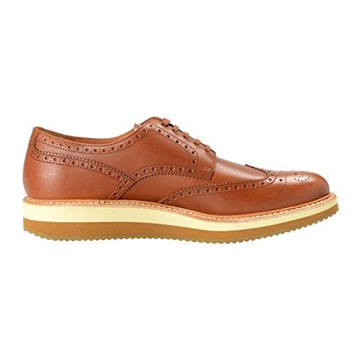 Prada Mens Brown Leather Casual Oxfords Shoes SZ US 10.5 IT 9.5 EU 43.5 LgBxWva8