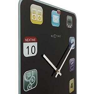 """NeXtime Reloj de pared """"WALL PAD"""", silencioso, vidrio, diseño de iPad, colorido, rectangular, 40 x 30 cm 3"""