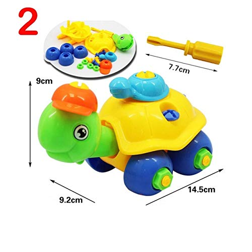 XuBa Construct a Animal and Vehicle Set Including Take-Apart and Assembled Model toy and Tools,10 styles Assembled toys for children
