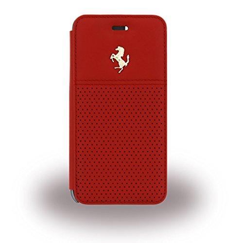 Ferrari FEGTBGFLBKP6RE GT Berlinetta Buch Typ Schutzhülle mit Goldlogo für Apple iPhone 6/6S 11,9 cm (4,7 Zoll) rot