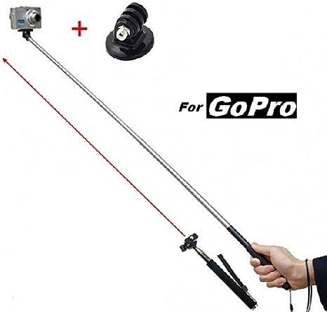 Perche Monopod télescopique avec bras extensible 1M, dragonne, pour caméra gopro et appareil photo numérique Expédition Express depuis la France