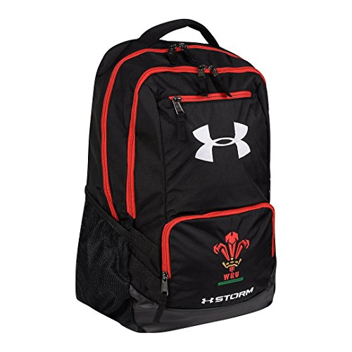 Under Armour 2018-2019 Wales Rugby WRU Hustle Backpack (Black)