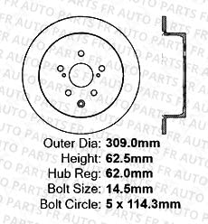 High-End Front+Rear Kit 5lug 4 OEM Replacement Disc Brake Rotors Fits:- Lexus Toyota 8 Ceramic Pads