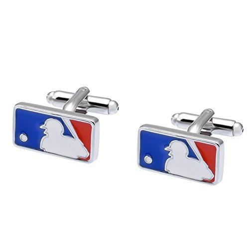 (Salutto Men's Baseball Mark Cufflinks with Gift Box)