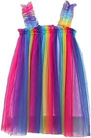 Kantenia Baby Girls Tutu Dress Sleeveless Princess Infant Toddler Girls Summer Tulle Sundress