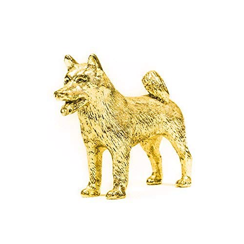 Alaskan Malamute Made in UK Artistic Style Dog Figurine Collection 22ct Gold Plated