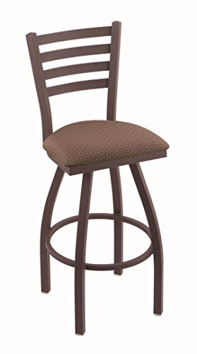 Holland Bar Stool Co. 410 Jackie 25'' Counter Stool with Bronze Finish and Swivel Seat, Axis Willow by Holland Bar Stool