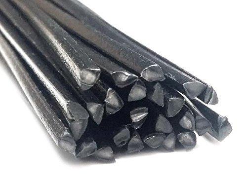 Plastique baguettes de soudure PPE-PA Noir 4mm Triangulaire 25 Barres az-reptec 1182014