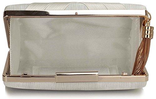 Look Hard 1 With New Evening Ivory Handbag Bag Box For Ladies Tassel Design Women Clutch Case Designer qOOf0Tw
