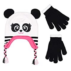 Dress Your Girls and Boys with this adorable two pair hat and glove set this lovely set will keep your little one warm and comfortable during the cold weather winder days. This winter set is made of incredibly soft, comfortable fabrics to giv...