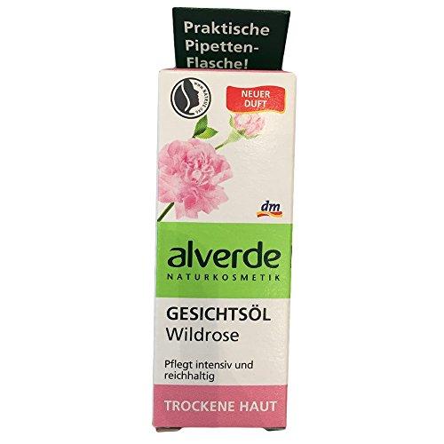 alverde Gesichtsöl Wildrose für Trockene Haut (15ml)