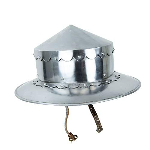 LM Handicrafts, Armor 14th Century Conical Kettle Helmet 16 Gauge Steel ()