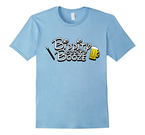 Mens Bippity Boppity Booze T-Shirt Large Baby (School Appropriate Halloween Movies)