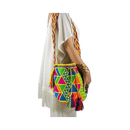 sinuana Beuteltasche, Bucket Bag, Strandtasche, Beach, boho, bag, Tasche, Umhängetasche, Shopper, Wayuu, Mochila, Handmade, Handgefertigt, Unikat, Unique, Mode Macondo