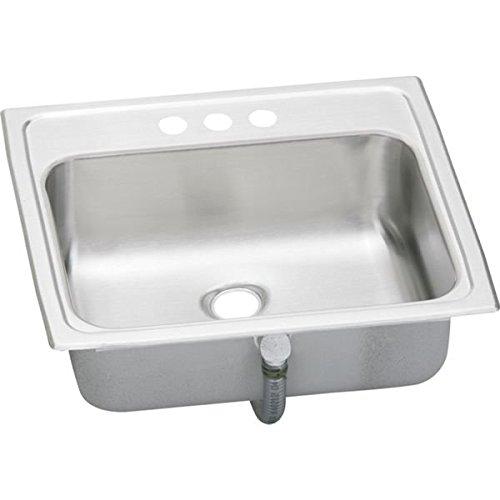 Elkay PSLVR19171 Sink, Stainless Steel 17' Self Rimming Lavatory Sink