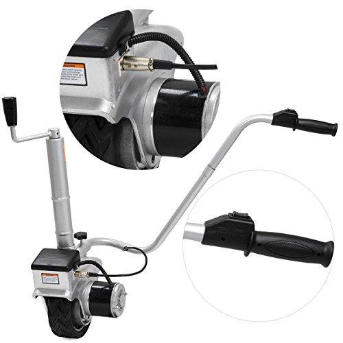 Stark 12v electric jockey wheel mover mini caravan boat for Motorized boat trailer mover