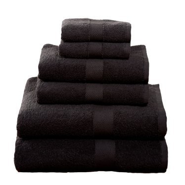 6 Piece Towel Set, Black