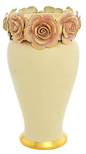 CERAMICHE D'ARTE F.L. ORGIA VASO GIOIA ROSE Vase