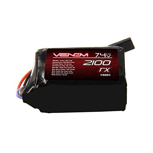 (Venom 5C 2S 2100mAh 7.4 Receiver/Transmitter Hump Pack LiPo)