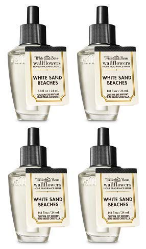 Bath and Body Works 4 Pack White Sands Beaches Wallflowers Fragrance Refill. 0.8 fl oz. by Bath & Body Works (Image #1)