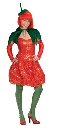 Karneval Damen Kostum Sexy Erdbeere Kleid Heisse Frucht Fasching G 38