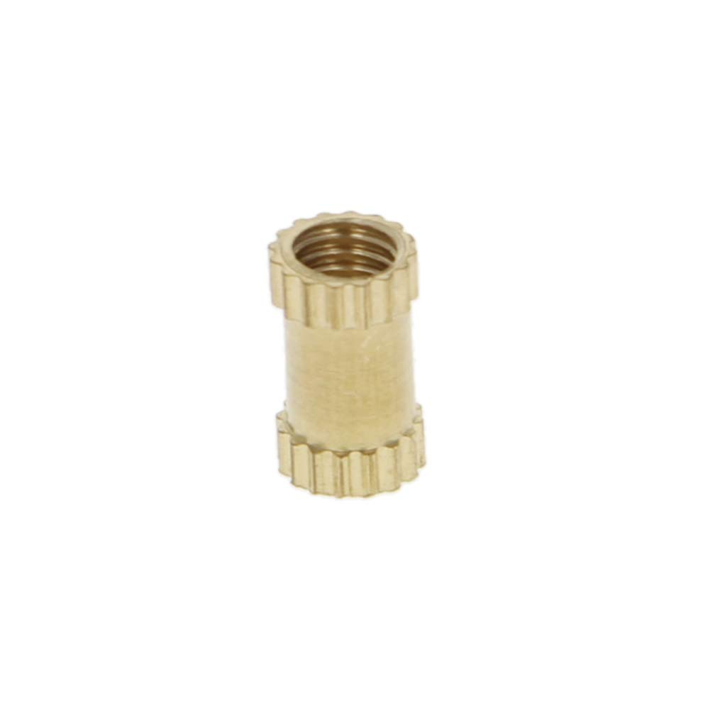 MroMax M2.5 x 3.8 x 6mm Female Thread Nuts Brass Threaded Insert Embedment Nuts Assortment Kit for Assembly 200PCS