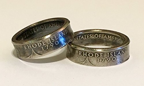 Used, His & Hers Ring set - 2 Quarter Rings for sale  Delivered anywhere in USA