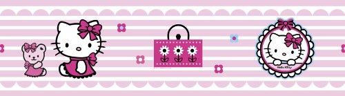 Hello Kitty 'Candy Stripe' Self Adhesive Wallpaper Border Decofun