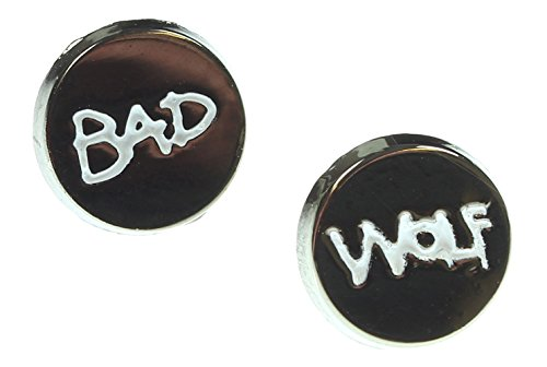 Doctor Who Bad Wolf Enamel Stud (Bad Wolf Dr Who Costume)