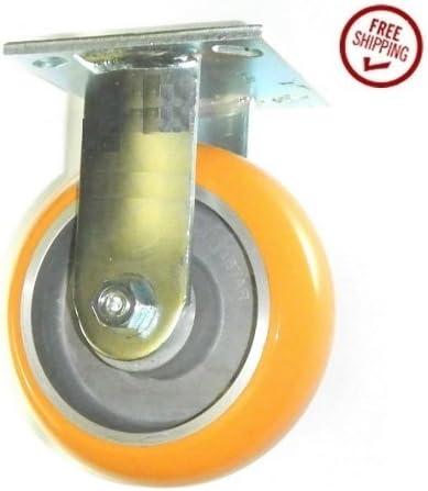 Albion 6 Rigid Caster with Polyurethane on Aluminum Wheel