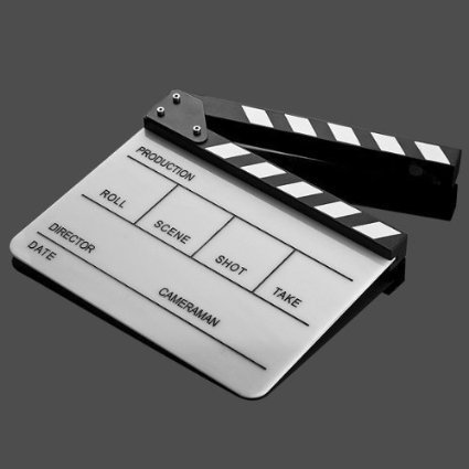 Perfect Lily Acrylic Film Clapboard Clapper Board Cut Action Scene Slate 10x12''/25x30 cm Dry Erase Director's Film Clapboard by Perfect Lily