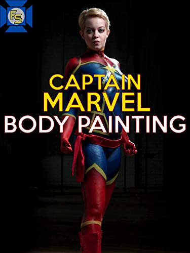 Captain Marvel Body Painting