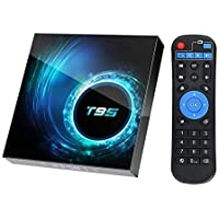 T95 Android TV Box 10.0, EASYTONE Android Box with 4GB RAM 64GB ROM/Quadcore CPU/ 2.4+5GHz Dual WiFi/ Standard10/100M…