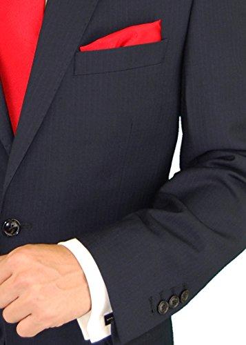 Gino Valentino Men's Two Button Modern Striped Night Navy Suit (38 Regular US / 48 Regular EU) by Gino Valentino (Image #5)