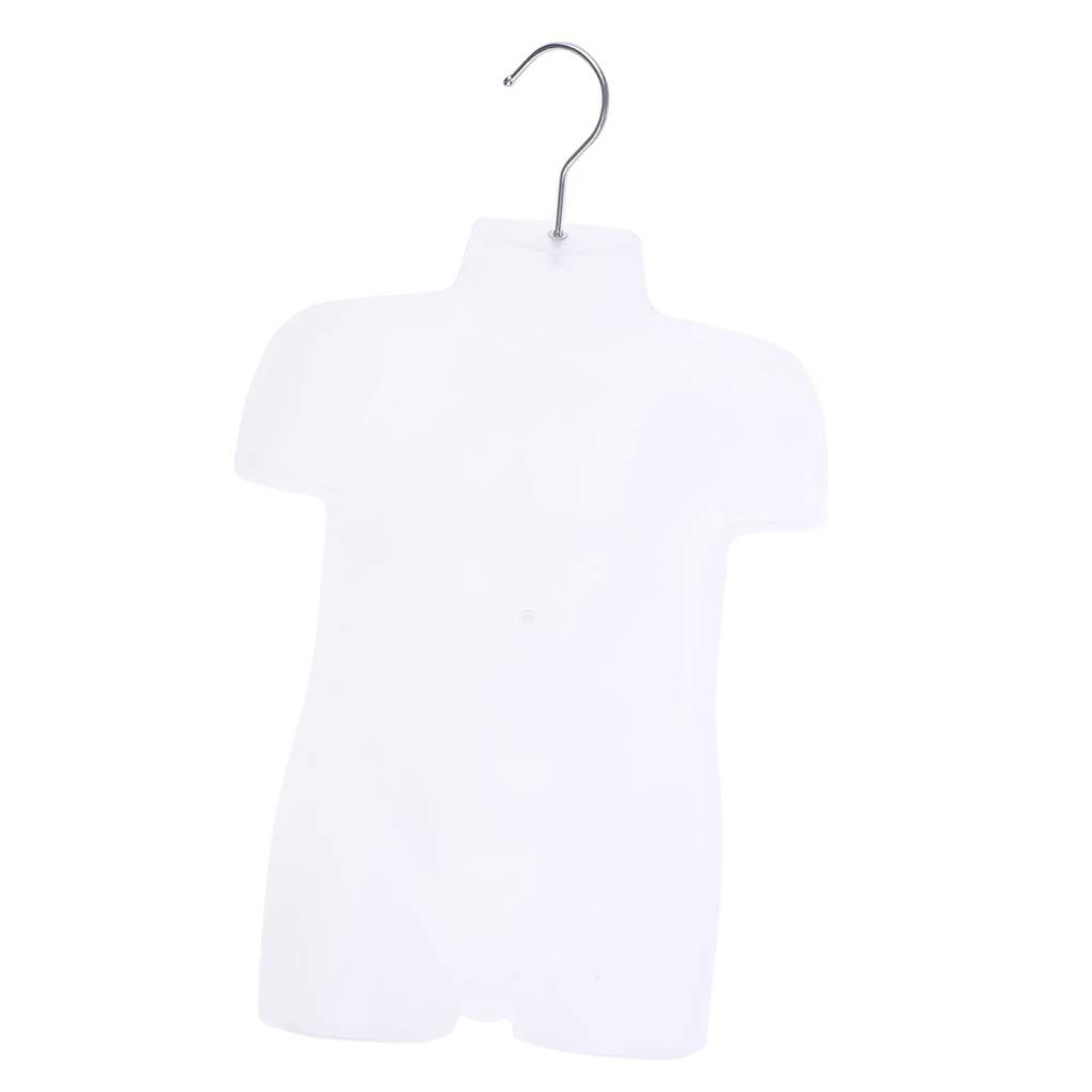 as described Almencla PE Dress Form Kids Cloth Mannequin Upper Body Torso Dressmaker Stand Display Clear-S